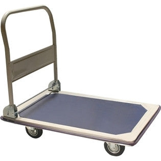 300 LB Capacity Hand Platform Flat Cart Dolly with Folding Handle - tool