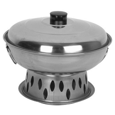 Stainless Steel Alcohol Wok Chafer Chafing Warmer Food Heater Set - JABETC