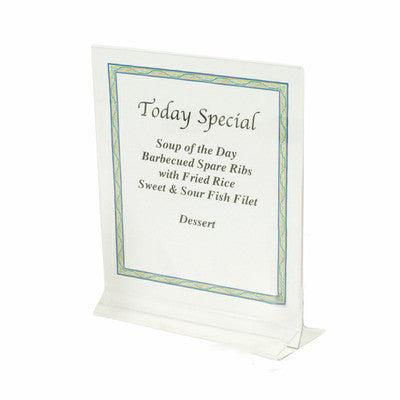"5"" x 7"" Clear Acrylic Plastic Table Card Menu Flyer Paper Holder Display Stand - JABETC"
