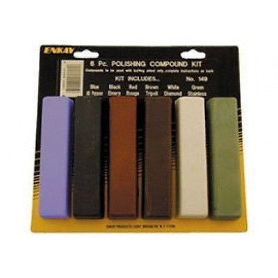 6 Piece Polishing Compound Buffing Rouge Sticks Buff Polish Bars Polisher Buffer Bar - JABETC