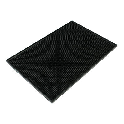 Black Plastic Drink Bar Glass Drain Countertop Service Counter Top Rinse Mat - tool