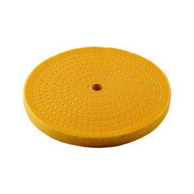 "6"" Treated Yellow Bench Grinder Buffing Wheels - JABETC"