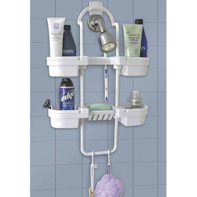 Hang On Up Bath Shower Rack Organizer Caddy Storage Shelf Soap Shampoo Holder - tool