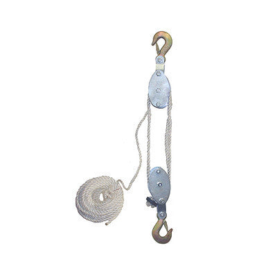 4000 LB Cap Hand Rope Block and Tackle Pulley System - JABETC