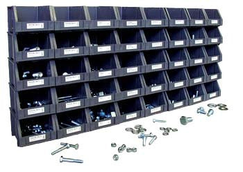 SAE Cap Screw Nut and Bolt Hardware Fastener Assortment with Bins and Labels - tool