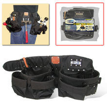Nylon 4 Piece Carpenter Contractor Tool Pouch Nail Bag Set with Adjustable Belt - tool