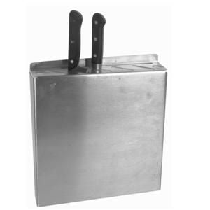 Stainless Steel Commercial Kitchen Knife Holding Holder Storage Rack - JABETC