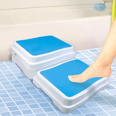 Plastic Bath Safety Step Booster Tub Bathtub Boost Ladder Raised Bathstep - JABETC