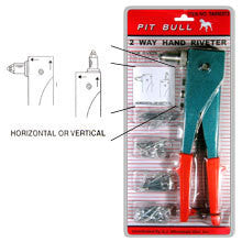 Pop Rivet Gun Tool Hand Operated Squeeze Riveter with 40 Rivets for Riveting - tool