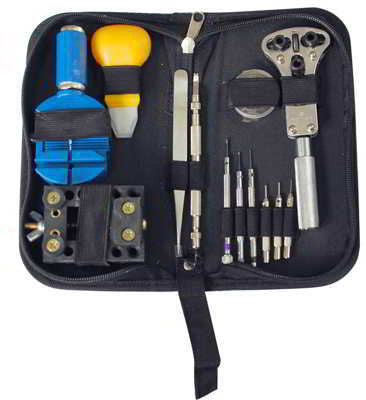 13 Piece Watch Repair Jeweler Tool Kit Case Back Opener Spring Bar Link Band Remover - tool