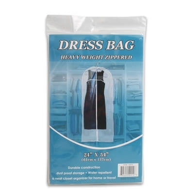 Zip Up Vinyl Plastic Zipper Zippered Garment Dress Storage Bag Holder Protector - JABETC