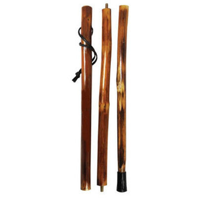 Natural Wooden Hiking Walking Walk Hike Stick Pole Collapsible Storage - tool
