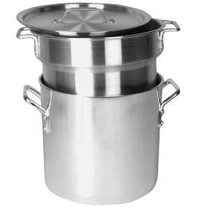 8 Quart Aluminum Double Boiler Set Cooker Steamer Steam Stove Top Cooking Pot - tool