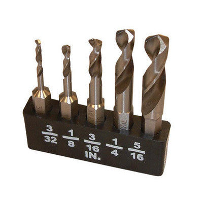 5 Piece Stubby Drill Bits for Angle Drill - JABETC