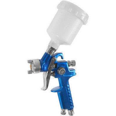HVLP Gravity Feed Air Fed Paint Spray Gun Sprayer Tool Top Cup - JABETC - 1