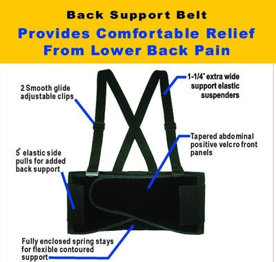 Plus Size Sized Weight Lifters Waist Lifting Safety Work Support Back Brace Belt - tool