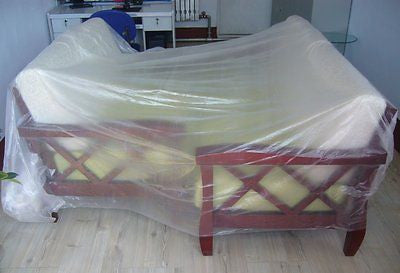 10 x 25' Clear Plastic Disposable Drop Cloth - tool