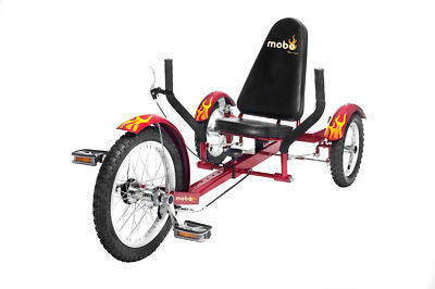 New Red 3 Wheel Low Rider Riding Bicycle Bike Tricycle - JABETC