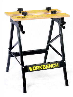 Folding Portable Sawhorse Woodworking Stand Vise Clamp - JABETC
