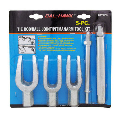 5 Piece Pickle Fork Tie Rod Ball Joint Remover Removal Tool for Air Impact Chisel - tool