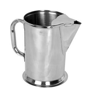 Stainless Steel Metal Fancy Restaurant Hot or Cold Drink Water Server Pitcher - tool