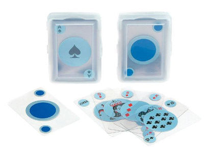 Deck Pack of Clear See Thru Modern Transparent Plastic Poker Playing Cards - tool