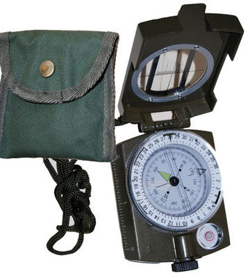 Prismatic Hand-Held Hunting Camo Military Metal Camping Survival Compass Pocket - JABETC
