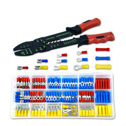 175 Piece Electrical Wire Stripper Crimping Crimper Tool Kit Solderless Terminal - JABETC