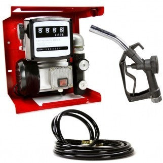 Electric Fuel Transfer Hose Gas Dispenser Oil Pump with Meter Metered Gauge - JABETC