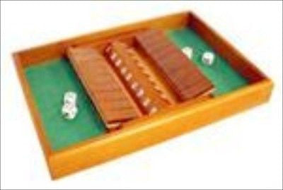 Wooden Double Shut The Box Dice Table Top Game - JABETC