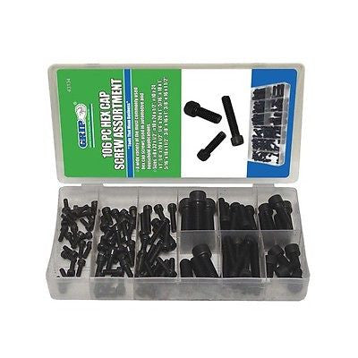 106 Piece SAE Cap Bolt Screw Assortment Kit - tool