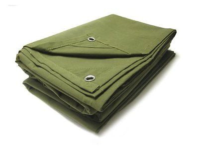 12' x 14' Water Repellant Canvas Tarp - tool