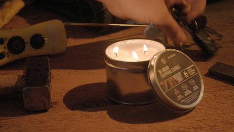 36 Hour Emergency Camping Candle in a Can - tool
