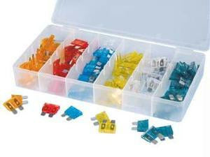 Assorted 120 Piece Pieces Auto Car Replacement Fuse Assortment Kit Fuses - tool