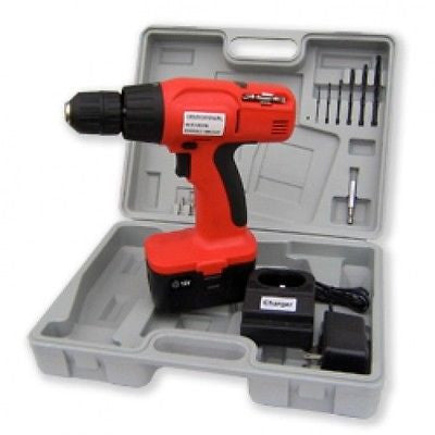 18V 18 Volt Cordless Power Powered Operated Battery Drill Screwdriver Tool Kit - JABETC