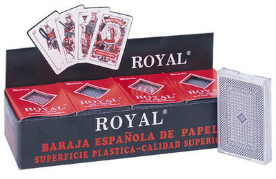 12 Piece Pack Plastic Coated Deck of Spanish Casino Poker Playing Cards - tool