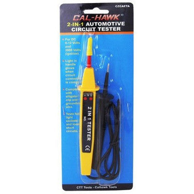 2 in 1 Electronic Auto Circuit 6 or 12 Volt Line Tester 12V Testing Tool Test - tool