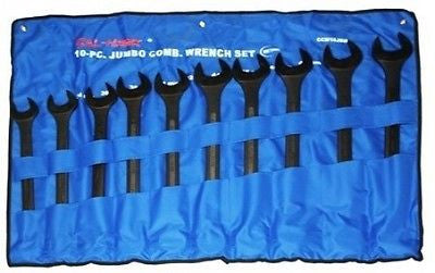 10 Piece Jumbo Big Size Standard SAE Wrench Set - JABETC