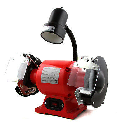 "8"" Electric Powered Bench Top Grinder Benchtop Sharpener Power with Light - tool"