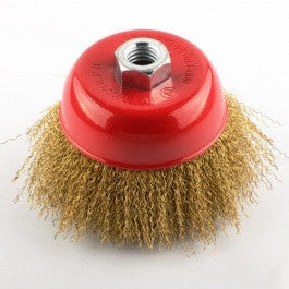 "4 1/2"" Steel Wire Cup End Brush for Small Mini Electric Hand Grinder Tool - tool"