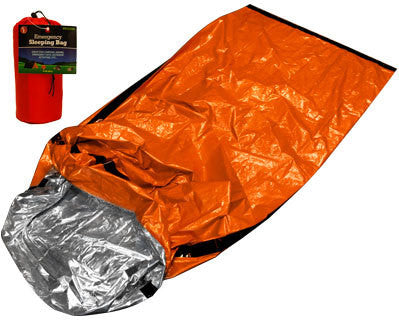 Orange Emergency Survival Camp Disaster Disposable Sleeping Bag Blanket Wrap - tool