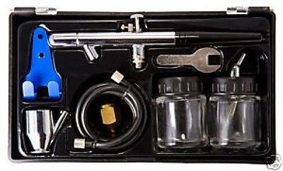 Dual Auto Airbrushing Kit Gun Tool Car Spray Paint Set Air Brushing Painting - JABETC