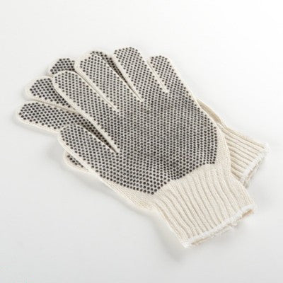 One Dozen Pair of Polka Dot Grip Work Gloves for Gardening Gripping and More - tool
