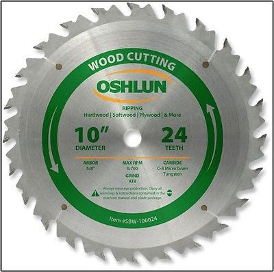 "10"" 24T Carbide Tip Wood Cutting Saw Blade - JABETC"