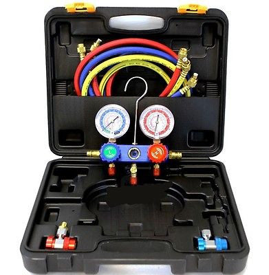 HVAC Air Conditioning Manifold Gauge Tool Set - JABETC