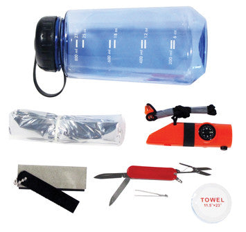 16 in 1 Survival Emergency Camping Drinking Water Bottle Gear Knife Tool Set Kit - JABETC