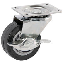 "4 Piece Set of 3"" Locking Wheel Full Ball Bearing Swivel Rotating Caster Castor - JABETC"