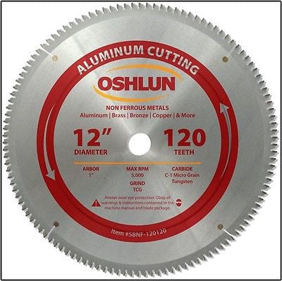 "12"" 120T Carbide Tip Aluminum Cutting Saw Blade - JABETC"