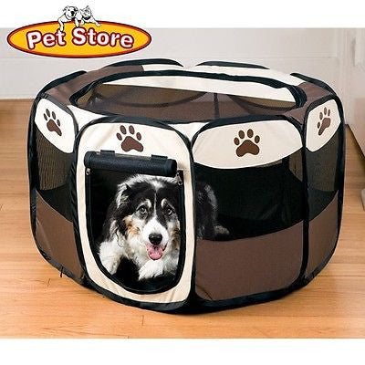 Large Size Portable Folding Fold Up Pet Dog Puppy Animal Playpen Play Pen - tool