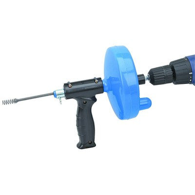 Hand Crank or Drill Operated Powered Drain Cleaner Cable Snake Tool - tool